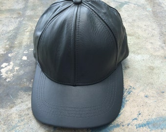 208726509d9 Vintage Leather Baseball Cap Unisex Hat Gray Ball Cap Hip Hop Fall  Accessories