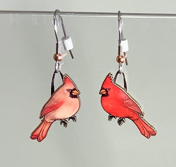 Cardinal Acrylic Earrings
