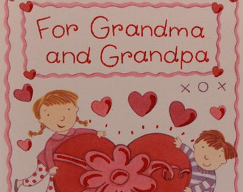 New/Old Stock-Celebrations by Gibson/Valentine's Day Card/Grandma and Grandpa.
