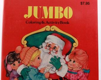 New - Old Stock 1988 Jumbo Coloring & Activity Book - Landoll