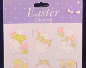 3 Sealed Sheets Vintage Gibson Valentine/'s Bunny Stickers