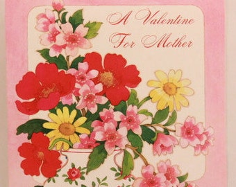 """NEW! Vintage """"Mother"""" Valentine's Day by Bellefair. Single Greeting Card with Envelope."""