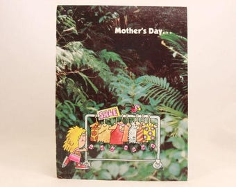 """Vintage """"Happy Mother's Day"""" by Buzza Greeting Card. Card and Envelope. Jungle Jane"""