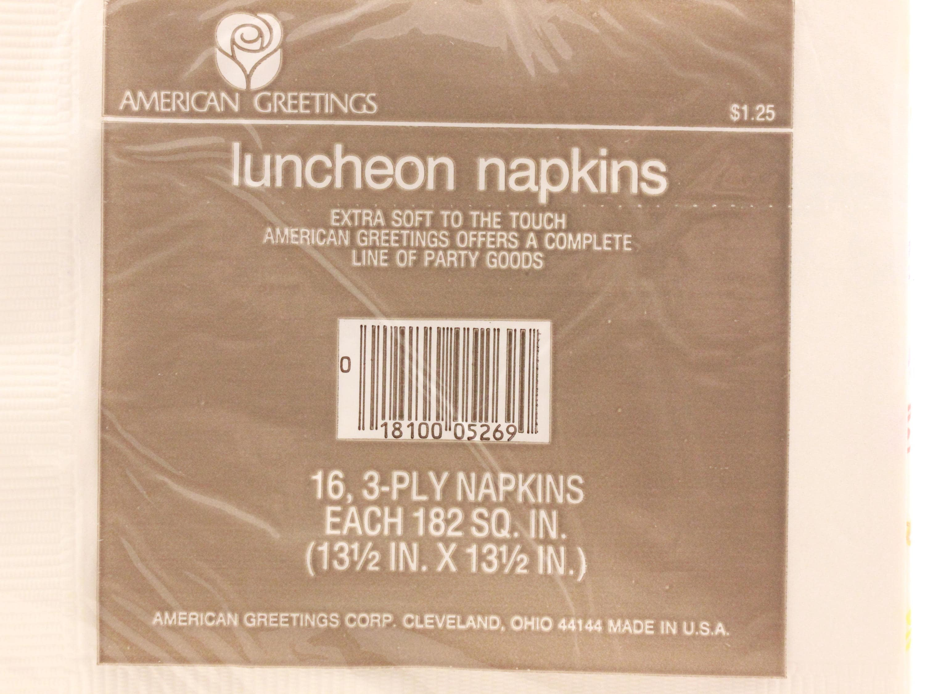 Vintage 2 sealed packages of luncheon napkins happy birthday by 1 m4hsunfo