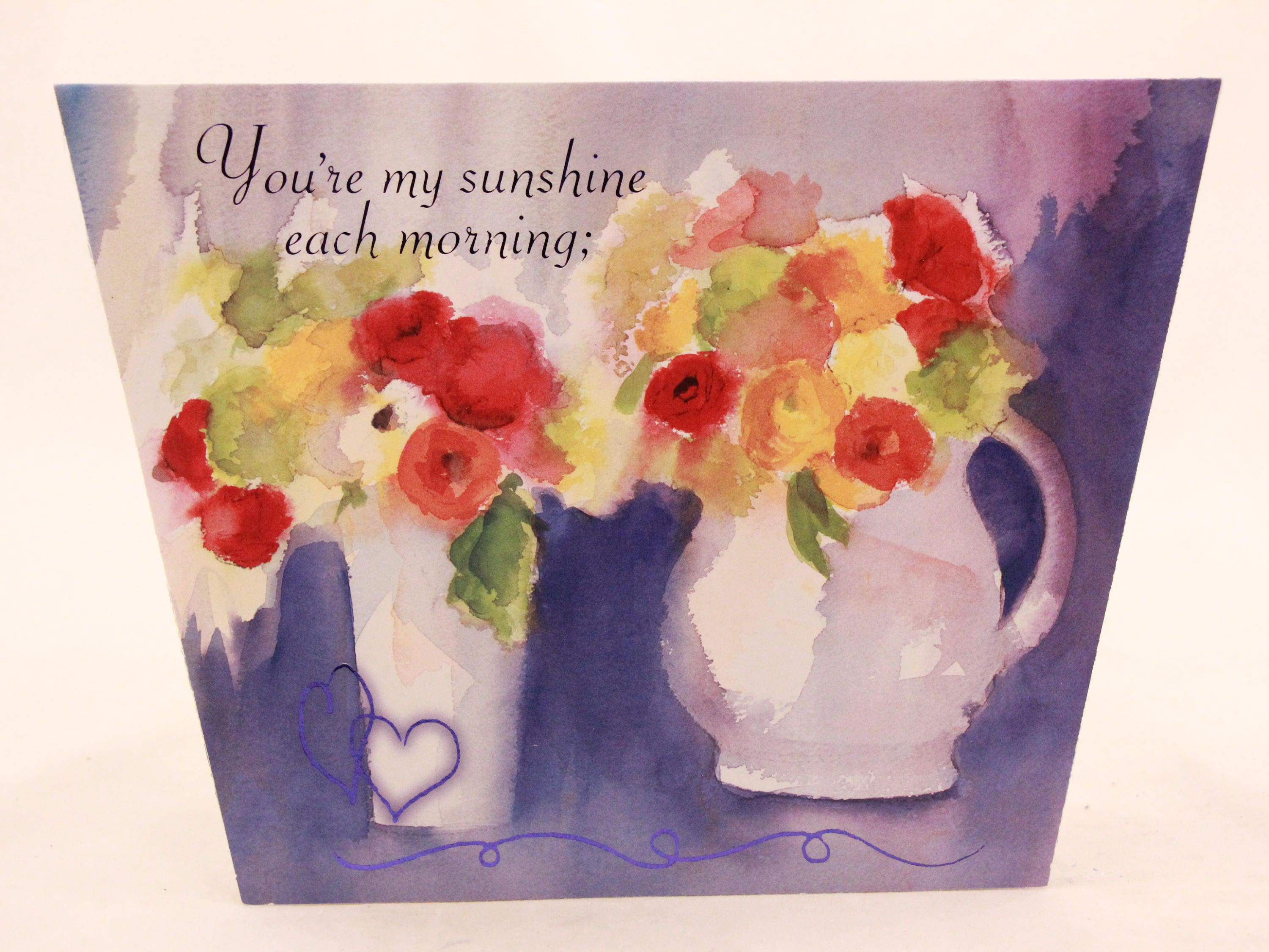 New Vintage Happy Anniversary Greeting Card By Sunrise Single Card