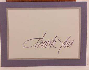 "New/Old Stock Hallmark ""Thank You"" Cards. 15 Notes and Envelopes. Sealed. Purple"