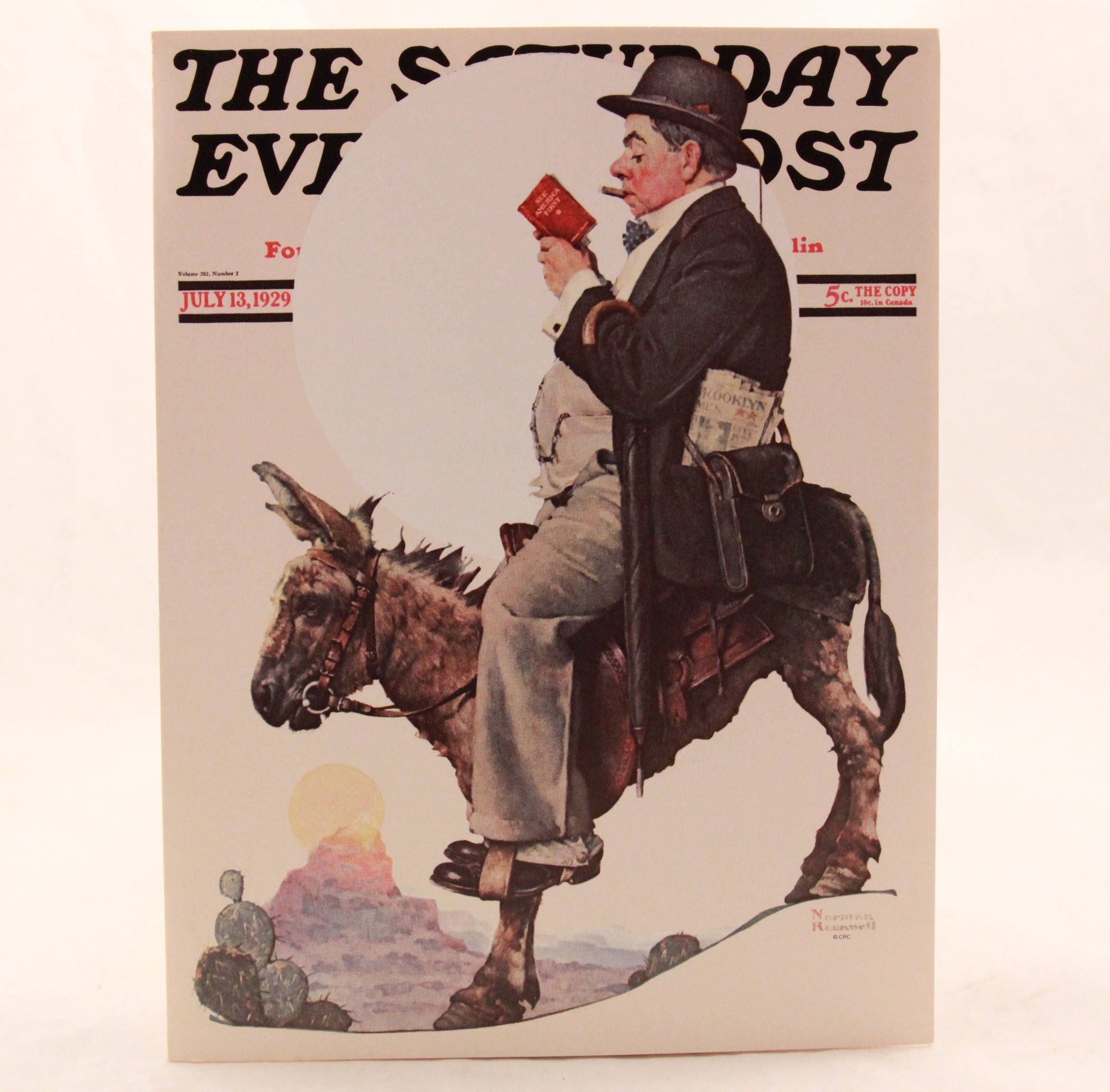 New Vintage The Saturday Evening Post Humor Ill Be Seeing You Soon