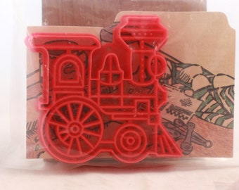 "New/Old Stock Six Hallmark  ""Red Train"" Cookie Cutters."