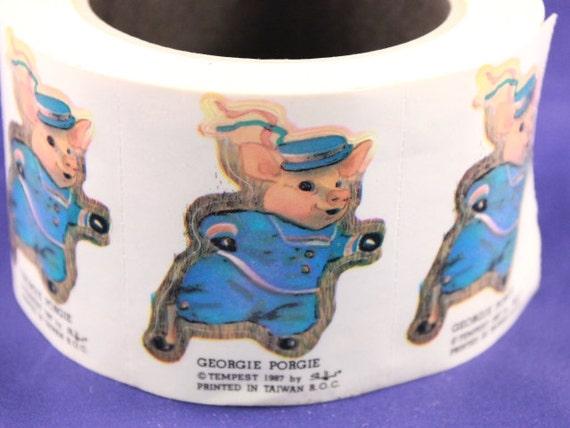 "Vintage 1987 Tempest ""Georgie Porgie"" Roll of Stickers"