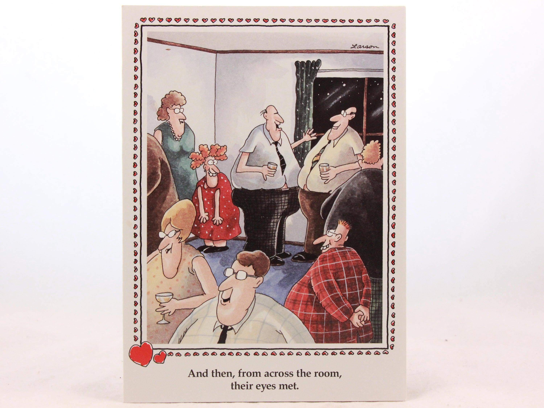 Vintage 1982 gary larson far side valentines day greeting card with vintage 1982 gary larson far side valentines day greeting card with envelope eyes met m4hsunfo
