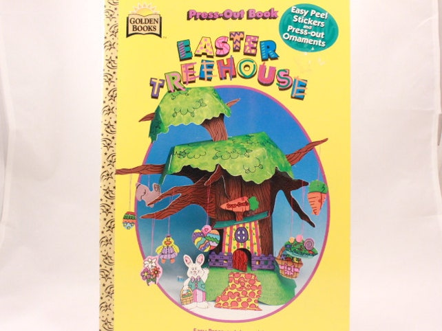 Press Out Book with Easy Peel Stickers. Easter Treehouse by Golden Books