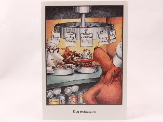 Vintage 1990 gary larson far side greeting card and envelope dog vintage 1990 gary larson far side greeting card and envelope dog restaurant m4hsunfo