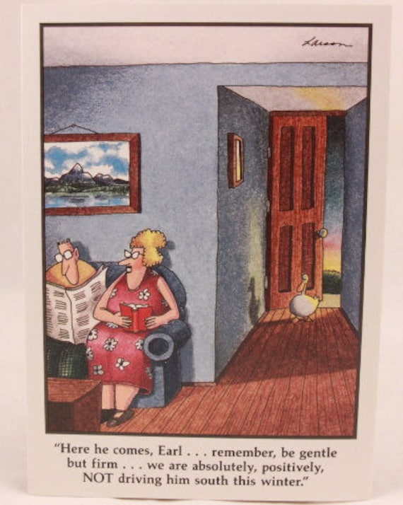 Vintage 1990 Gary Larson Far Side Greeting Card And Envelope