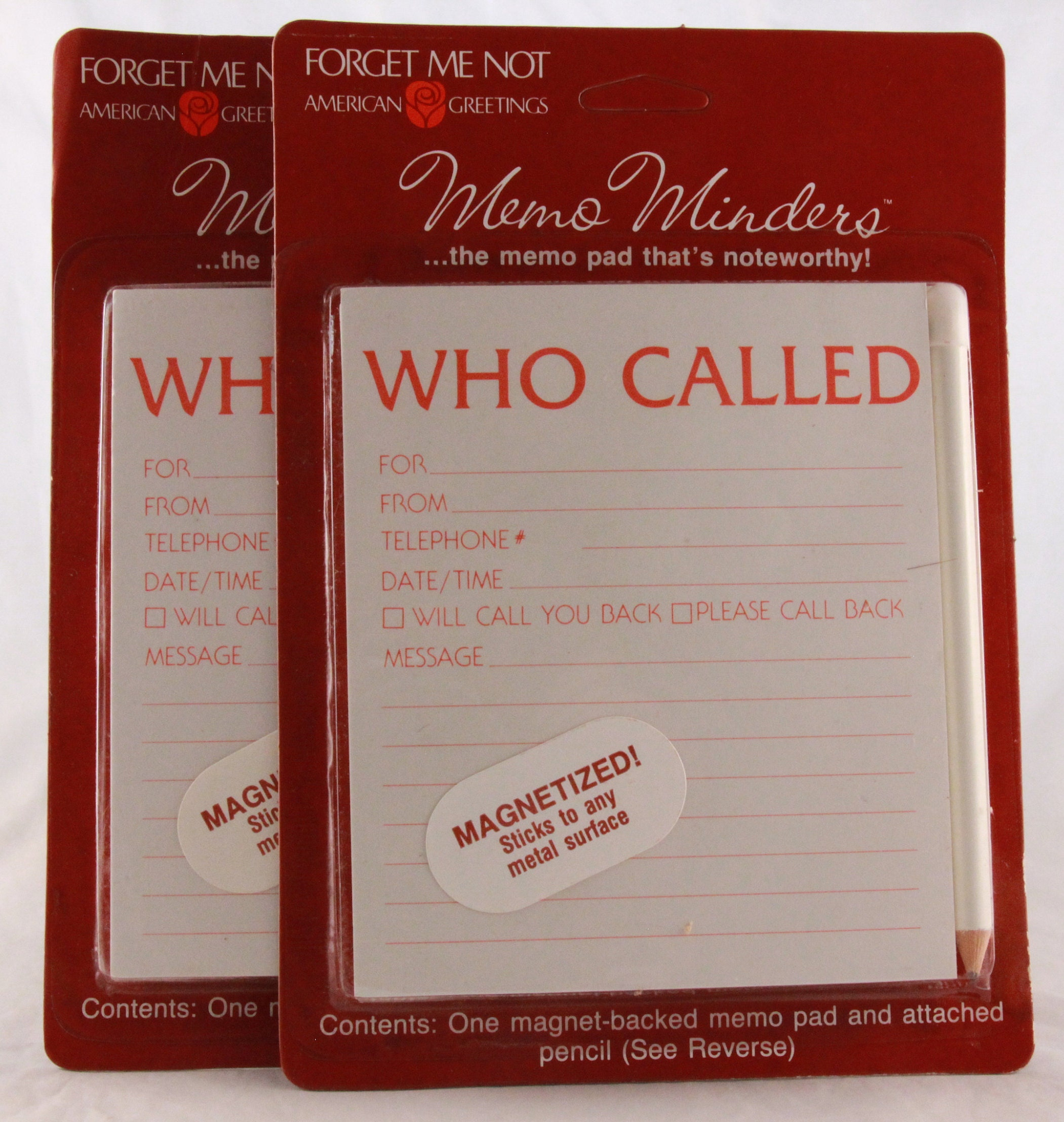 Newold stock american greetings memo minders who called newold stock american greetings memo minders who called magnetized notepad with pencil saf308b m4hsunfo