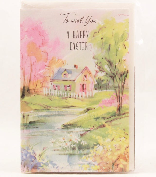 New/Old Stock! Card Masters ~Happy Easter~ Easter Greeting Card with Envelope