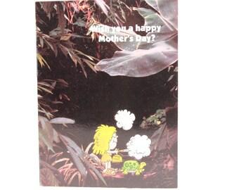 Vintage Jungle Jane Mother's Day Card and Envelope.