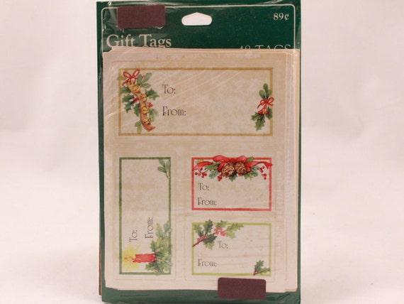 Vintage Hallmark 48 Christmas Gift Tags. Sealed