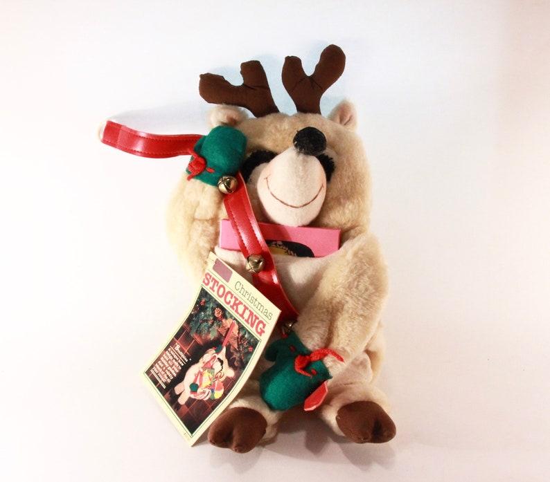 Stuffables Reindeer Vintage 1982 Hallmark Christmas Stocking QSF 601-6