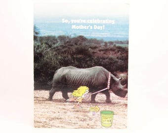 """Vintage """"Happy Mother's Day"""" by Gibson Greeting Card. Card and Envelope. Jungle Jane"""