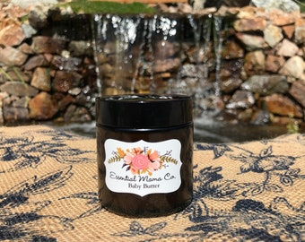 Organic Baby Butter / Vegan, Children's Lotion, Cruelty-Free, All Natural Moisturizer, Pregnancy, Essential Oils, 4 Mom,