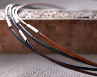 Leather Necklace, Choose Length, Leather Cord Necklace, Add a Necklace, Unisex Leather Cord Necklace, Leather Jewellery, Jewellery & Gifts