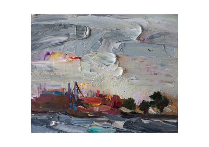 Tempesta di vento e mare mosso a Dawn originale pittura di   Etsy