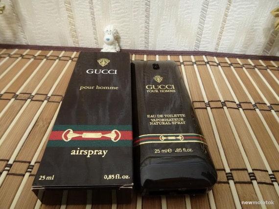 eb2f6e86fb38 Gucci Pour Homme for Men 25ml. EDT Vintage Rare   Etsy