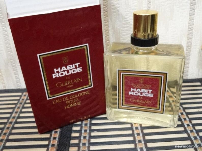 Habit Rouge De Guerlain Pour Homme 200 Ml Cologne Vintage Etsy