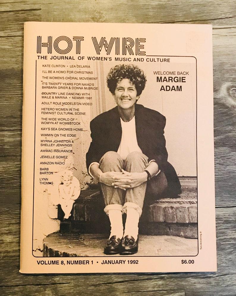 Hot Wire, Lesbian Art Gift Music Culture January 1992, Vol 8, Number 1,  Women's Music Journal Magazine,