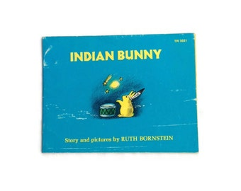 Indian Bunny by Ruth Bornstein, 1974 Soft Cover Children's Book