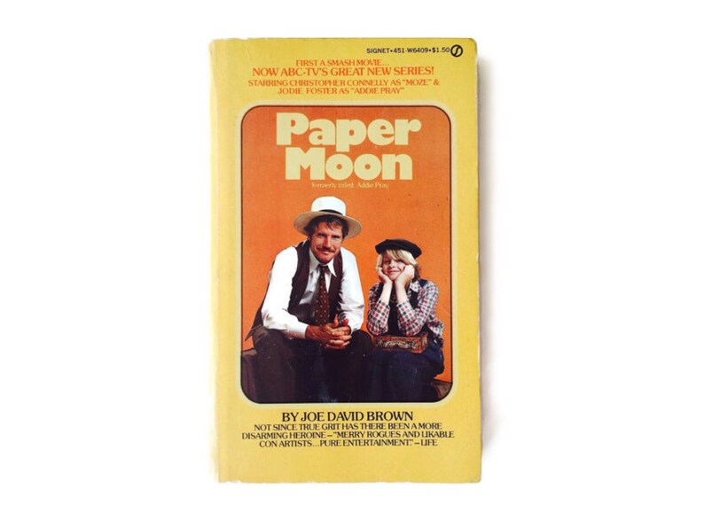 Paper Moon with Jodie Foster 1970s Joe David Brown Book image 0