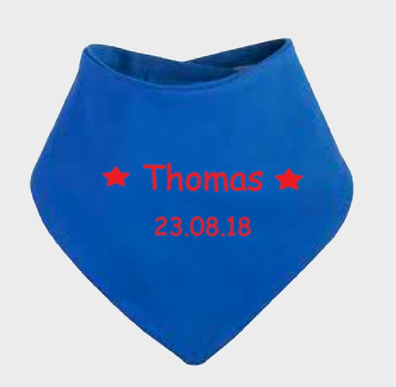 ANY NAME//COLOUR Unique Gift Personalised Embroidered Baby Bandana Dribble Bibs