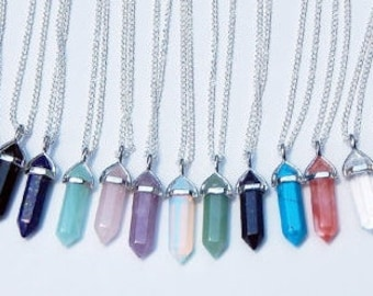 Crystal pendant etsy crystal necklace crystal pendant crystal point necklace crystal choker crystal pendant necklace crystal pendulum opalite necklace aloadofball