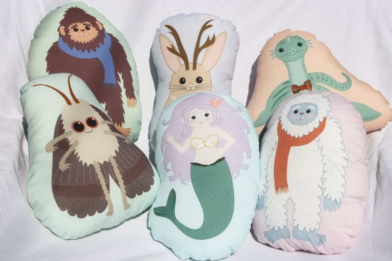 Baby Rattle/Toy/Pillow - Crypto Critters - Sasquatch, Jackalope, Loch  Monster, Mothman, Mermaid, Yeti