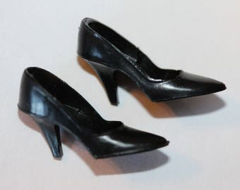 Japan Vintage Barbie Black Closed Toe High Heels #1652 #1678