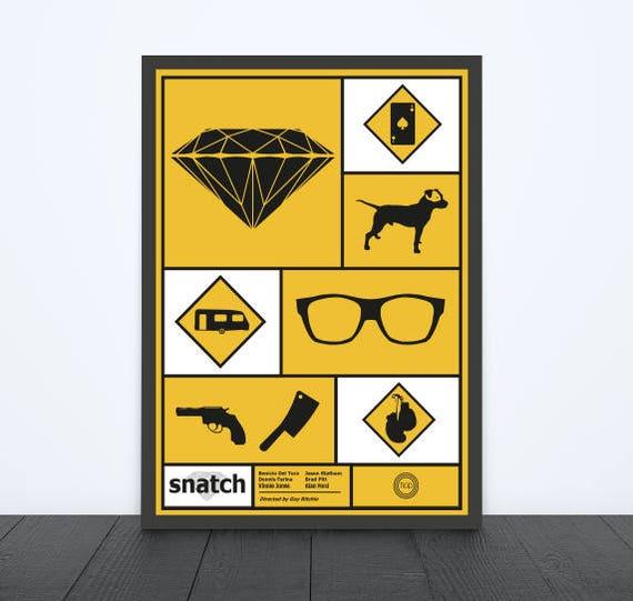 Snatch Inspired Print / Alternative Movie Poster / Framed