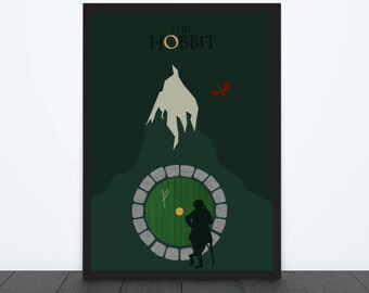 The Hobbit Inspired Print / Lord of the Rings / JRR Tolkien / Bilbo Baggins / Alternative Movie Poster / Gandalf / Middle Earth