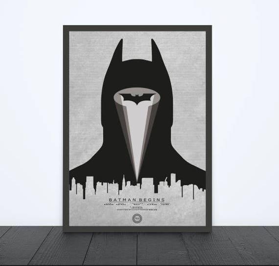 BATMAN BEGINS Alternative Minimal Movie Poster