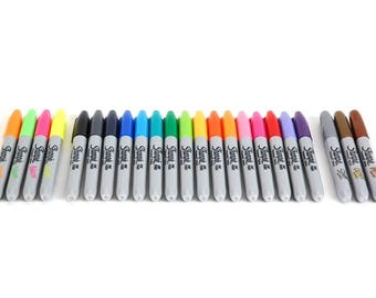 23pcs Sharpie Set - Rainbow, Metallic, & Neon