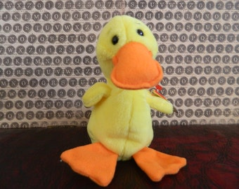 TY Yellow Duck Beanie Baby