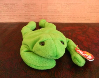 a75cf4547ae TY Green Frog Beanie Baby