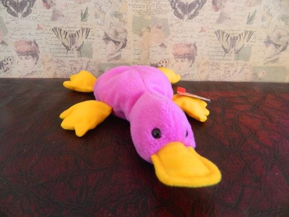 TY Purple Platypus Beanie Baby Patti B  2cb93ec2531