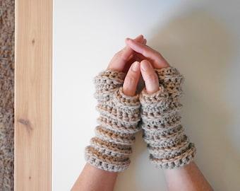 Crochet fingerless gloves pattern, fingerless mittens