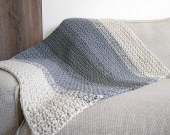 Crochet pattern baby blanket, crochet baby blanket, baby shower gift, toddler blanket, ombre throw