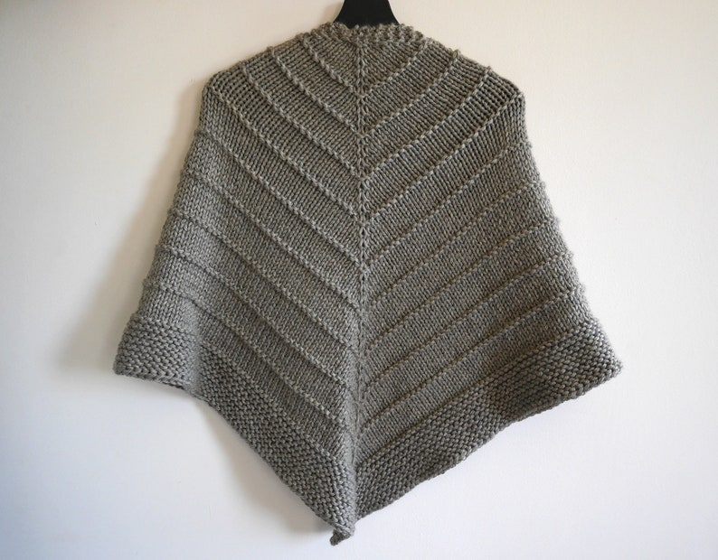 Easy knit triangle shawl knitted triangle wrap image 0