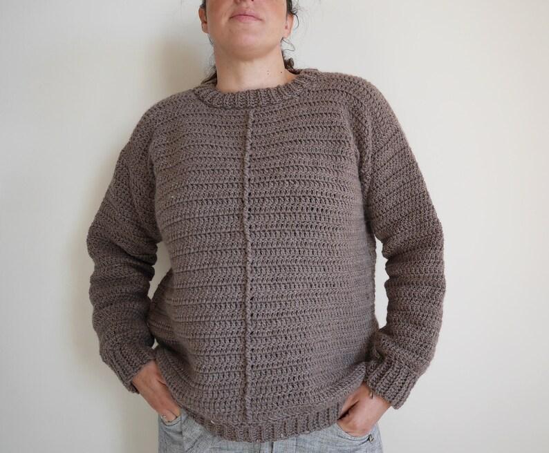 Women's crochet sweater pattern pullover crochet pattern image 0