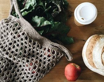 Crochet market bag pattern, tote bag, crochet beach bag, crochet produce bag pattern