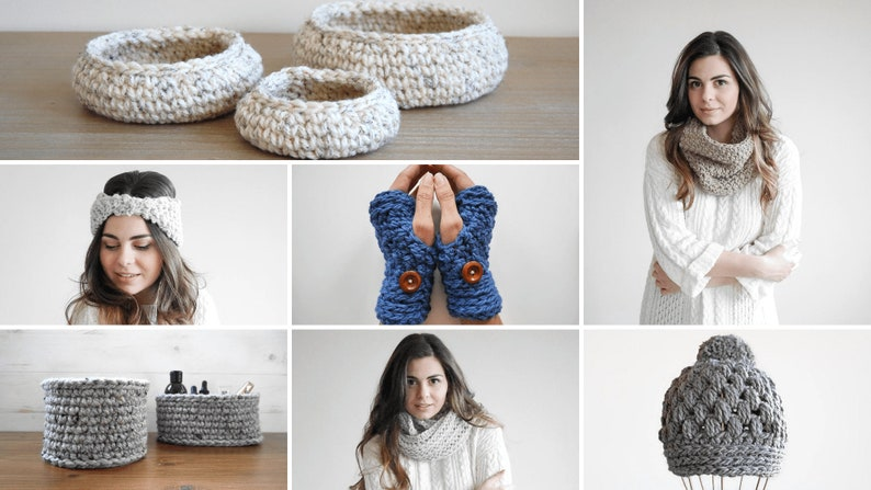 Womens crochet accessories pattern e-book 7 crochet patterns image 0