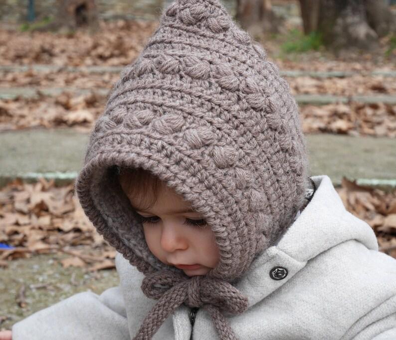 Crochet baby pixie hat pattern crochet baby hat girls pixie image 0