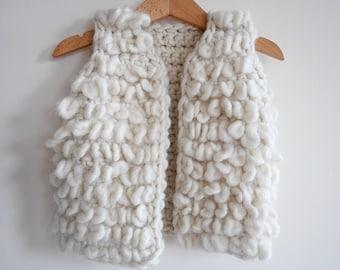 Crochet pattern, vest crochet pattern for girls, crochet baby cardigan, girls sleeveless cardigan